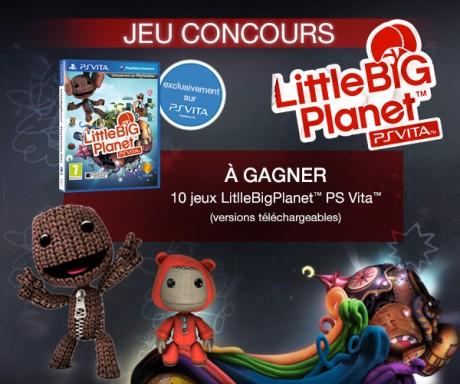 jeu concours little big planet gagnez des jeux ps vita. Black Bedroom Furniture Sets. Home Design Ideas