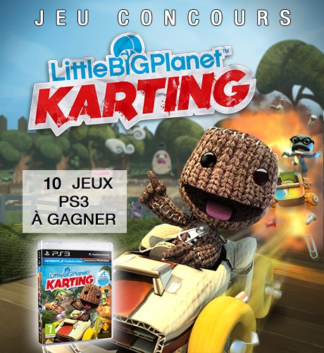 jeu concours little big planet karting gagnez des jeux ps3. Black Bedroom Furniture Sets. Home Design Ideas