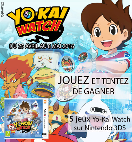 jeu concours yo kai watch. Black Bedroom Furniture Sets. Home Design Ideas