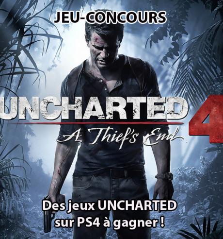 Uncharted 4 : COD Jordan vous fait gagner 10 jeux PS4 !