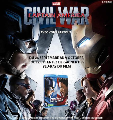 Jeu-concours Captain America : Civil War