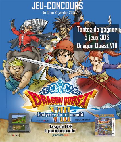 Jeu-concours Dragon Quest VIII : L'Odyssée du Roi Maudit