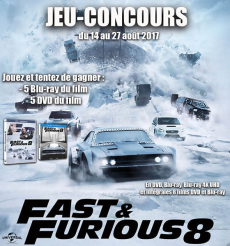 jeu concours fast furious 8. Black Bedroom Furniture Sets. Home Design Ideas
