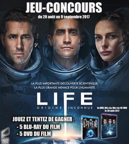 """Jeu-concours """"LIFE : Origine Inconnue"""""""