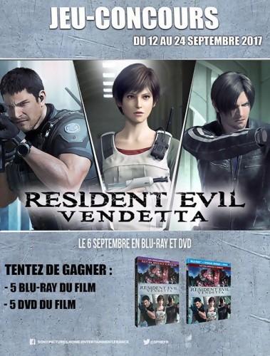 "Jeu-concours ""Resident Evil Vendetta"""