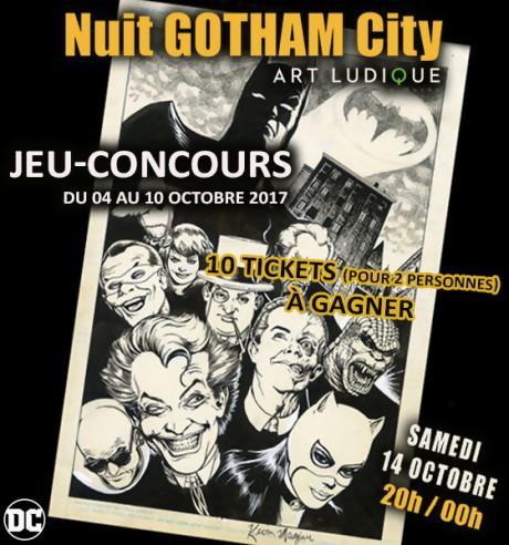 """Jeu-concours """"La Nuit Gotham City"""""""