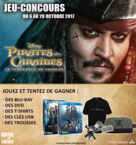 """Jeu-concours """"Pirates des Caraïbes : La Vengeance de Salazar"""""""