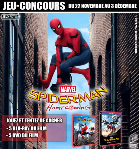 "Jeu-concours ""Spider-Man Homecoming"""