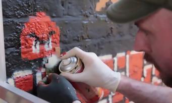 Super Mario Maker : le mur peint comme un niveau de Mario à Londres