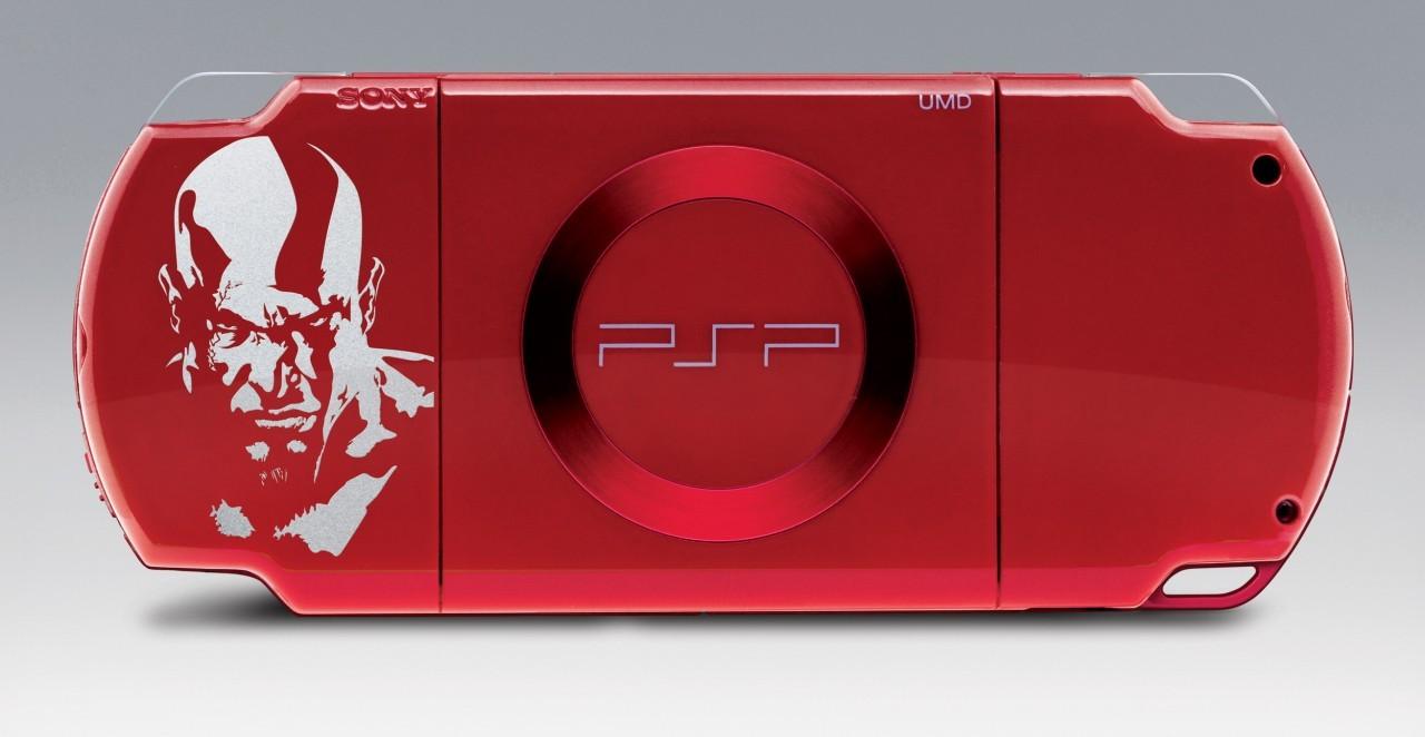 une psp rouge sang pour kratos