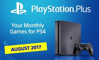 PS4 : la liste des jeux gratuits pour le mois d'août 2017