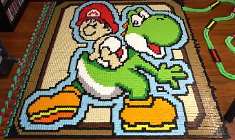 Nintendo : un hommage à Yoshi's Island en 136 780 dominos
