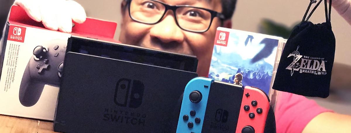 Nintendo Switch : notre unboxing de la console et un goodies spécial Zelda