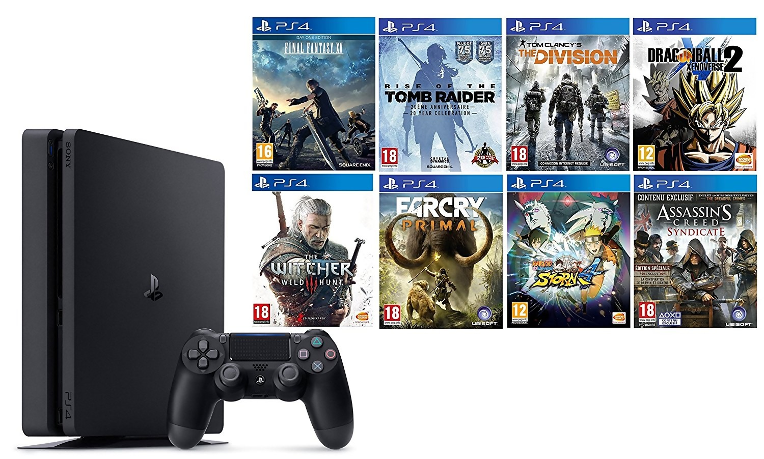 ps4 pour le black friday sony lance un pack avec 8 jeux pour 399. Black Bedroom Furniture Sets. Home Design Ideas