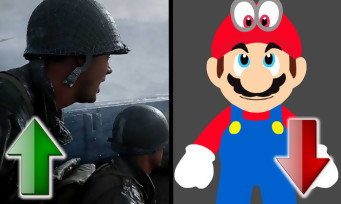France : Call of Duty WW2 au top, Super Mario Odyssey en chute libre
