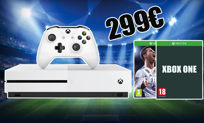 cyber monday xbox one s 1to 2 manettes fifa 18 299. Black Bedroom Furniture Sets. Home Design Ideas