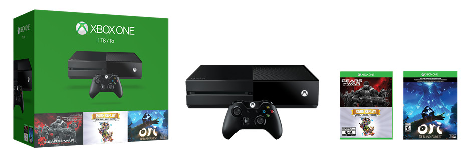 xbox one un nouveau pack avec une console 1 to et trois jeux. Black Bedroom Furniture Sets. Home Design Ideas