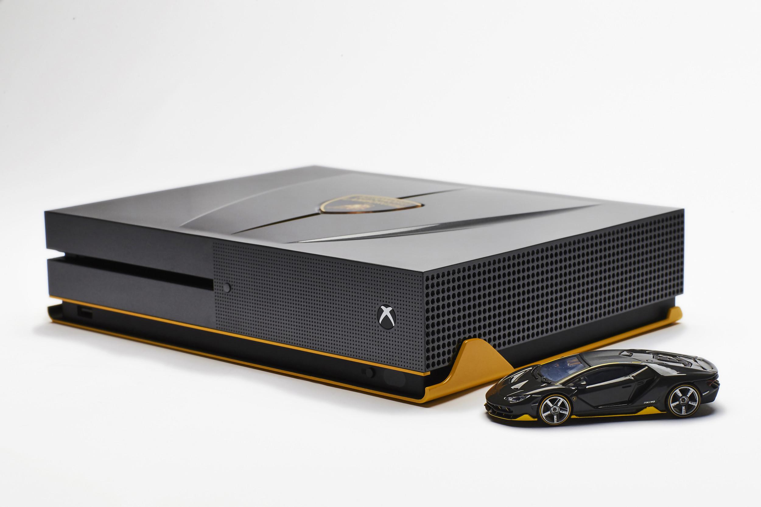 xbox one s une 3 me console custom lamborghini centenario. Black Bedroom Furniture Sets. Home Design Ideas