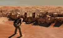 Après des jours de marche dans le désert, Nathan Drake tombe sur une ville fantôme