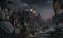 Aveline dans l'une des villes du jeu