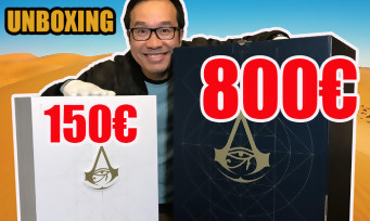 Assassin's Creed Origins : notre unboxing des collectors à 150€ et 800€ !
