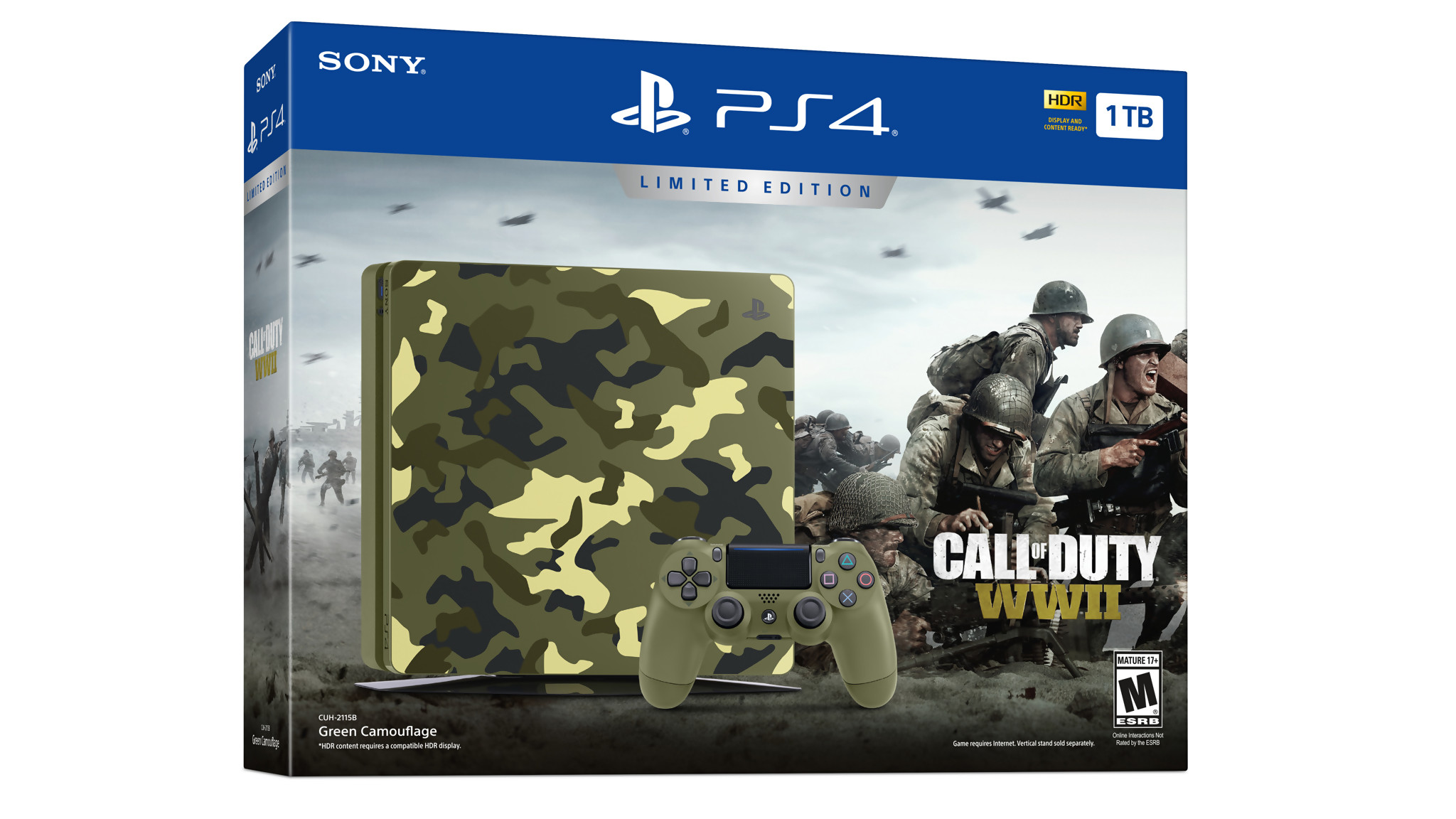call of duty ww2 voici la ps4 collector camouflage en vid o. Black Bedroom Furniture Sets. Home Design Ideas