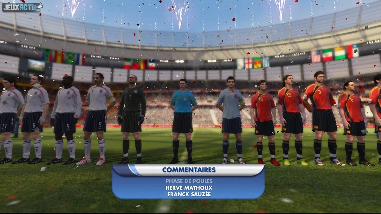 Test coupe du monde de la fifa afrique du sud 2010 sur ps3 - Coupe du monde de la fifa bresil ps ...