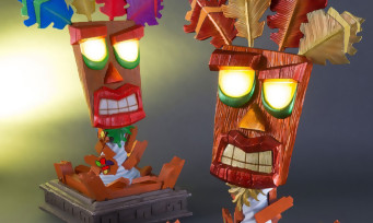 Crash Bandicoot : les images de la statue de Aku Aku signée First 4 Figures