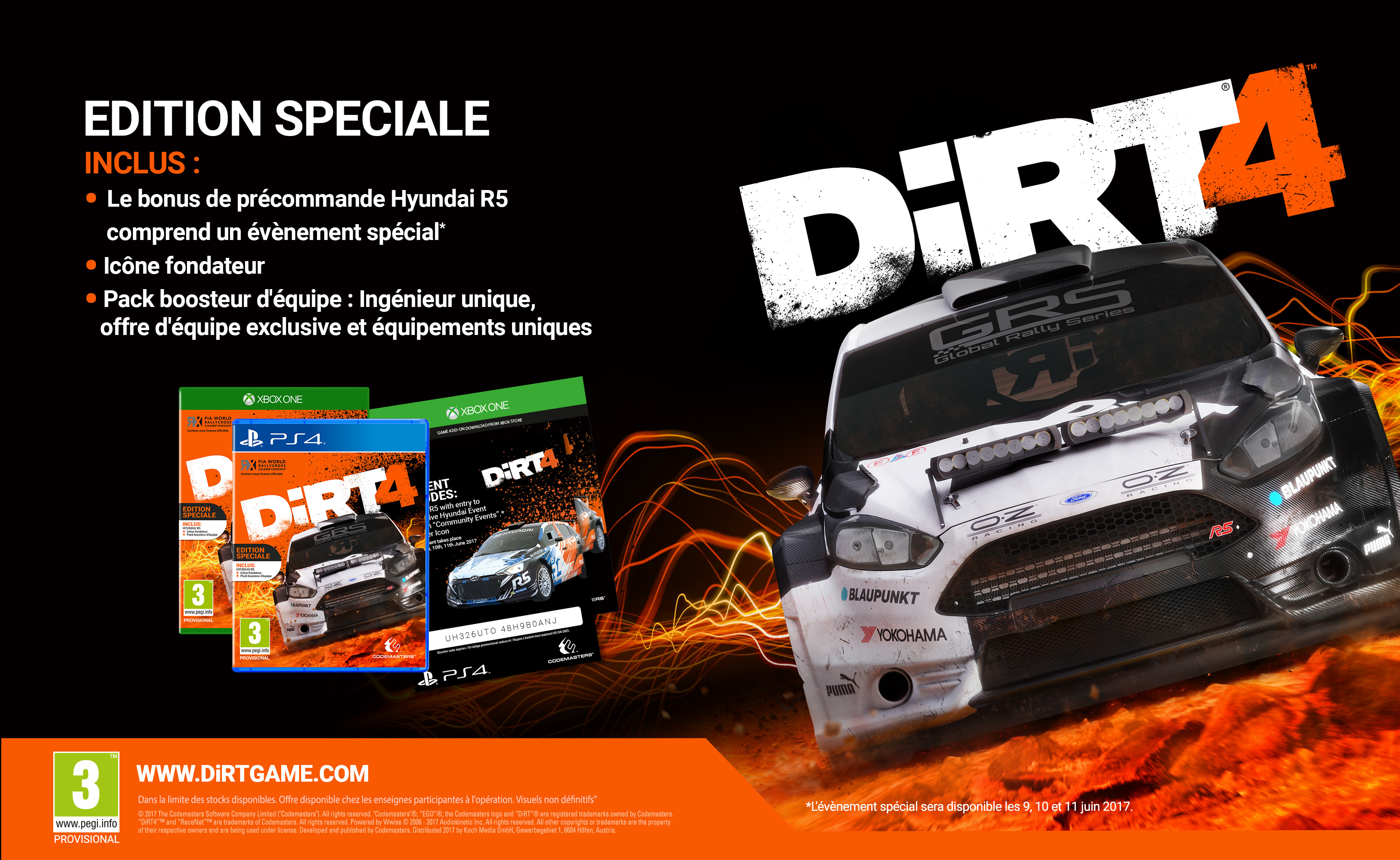 dirt 4 une vid o de gameplay et les ditions sp ciales d voil es. Black Bedroom Furniture Sets. Home Design Ideas