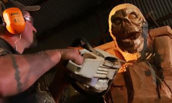 DOOM : il réalise une sculpture d'un Revenant à la tronçonneuse !