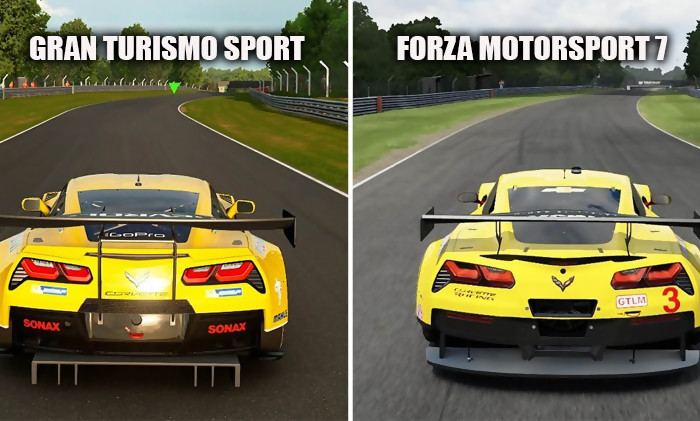 gran turismo sport vs forza 7 qui a les plus beaux graphismes r ponse en vid. Black Bedroom Furniture Sets. Home Design Ideas