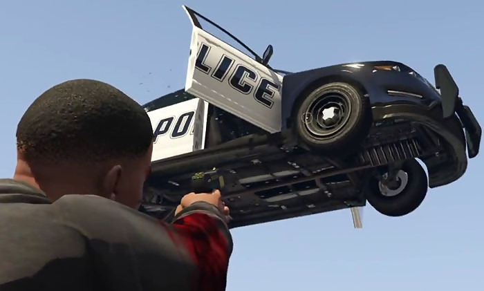 how to use gravity gun in gta 5