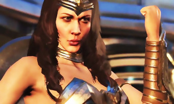 Injustice 2 : un trailer de gameplay opposant Wonder Woman et Blue Beetle