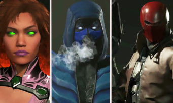 Injustice 2 : trailer de gameplay de Sub-Zero, Starfire et Red Hood