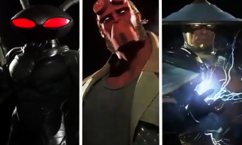 Injustice 2 : trailer de gameplay de Hellboy, Raiden et Black Manta