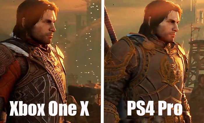 Shadow of war ps4 pro vs xbox one x le comparatif qui fait mal - Meilleur console entre xbox one et ps4 ...
