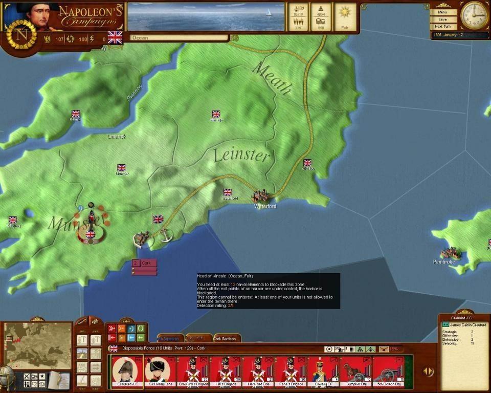 Napoleon's Campaigns (Наполеон: Эпоха завоеваний) - скриншоты.