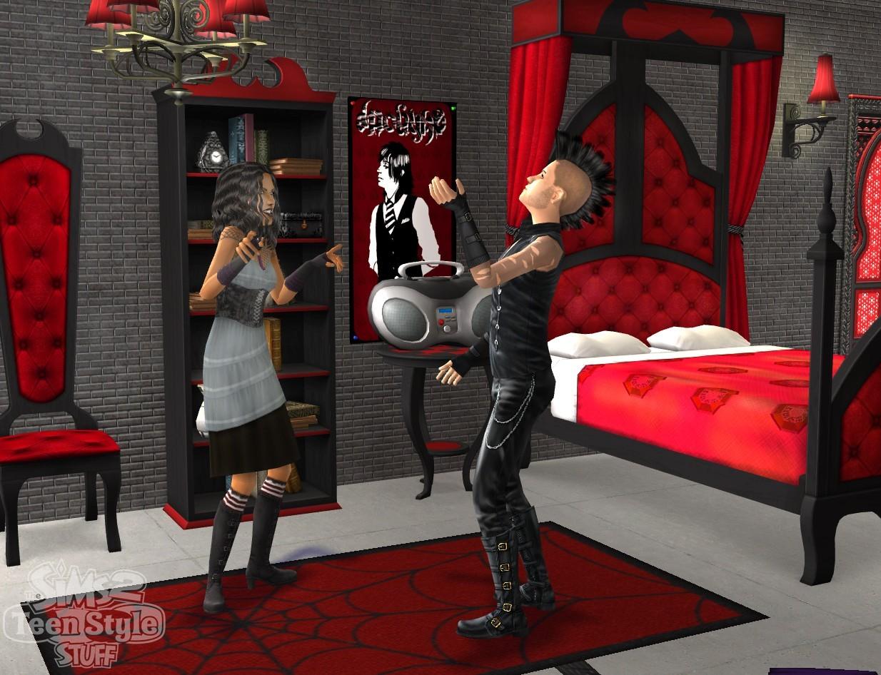 les sims 2 tendance ados d voil. Black Bedroom Furniture Sets. Home Design Ideas