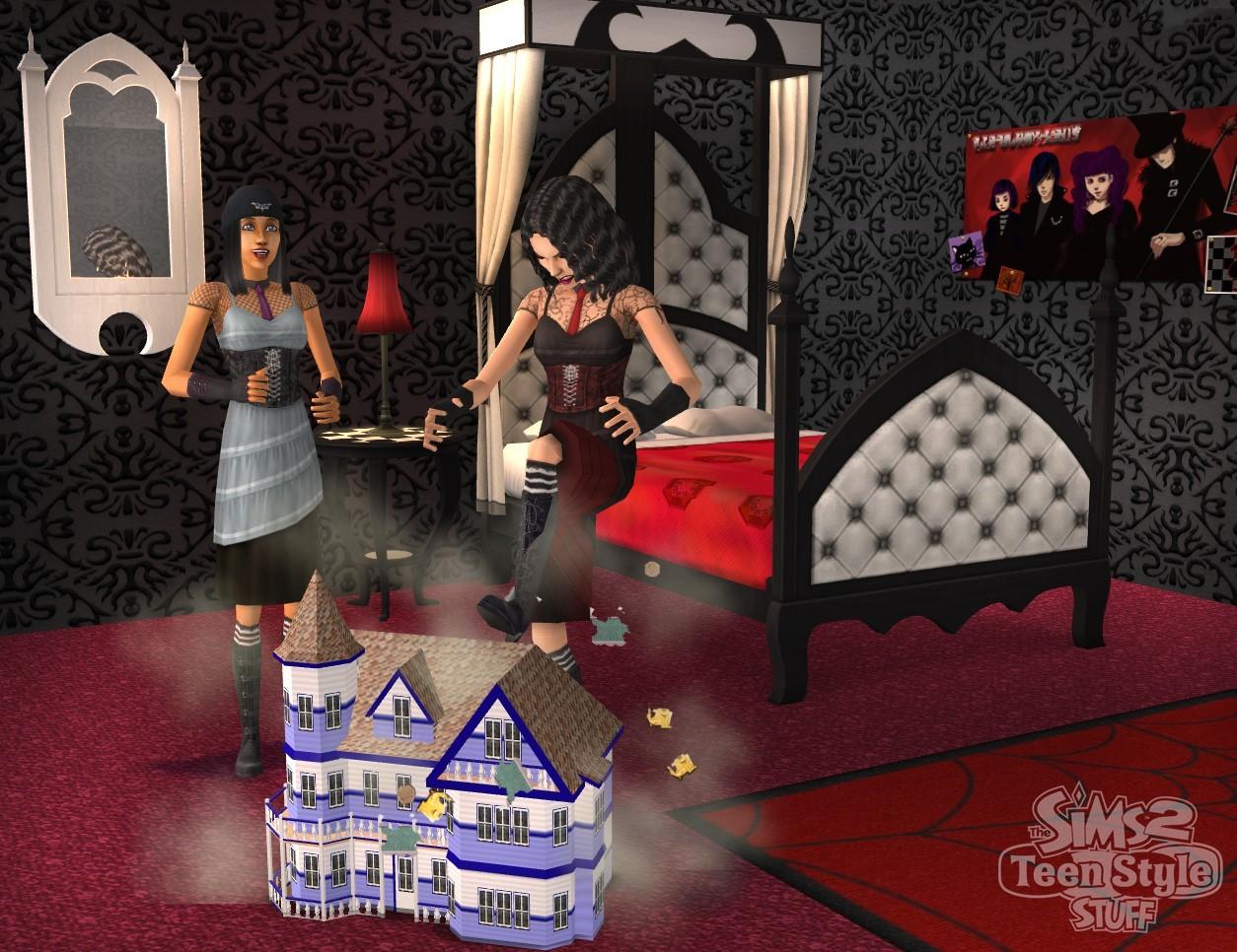 images les sims 2 kit tout pour les ados. Black Bedroom Furniture Sets. Home Design Ideas