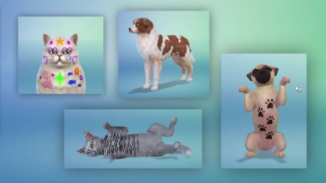 chiens et chats sims 4