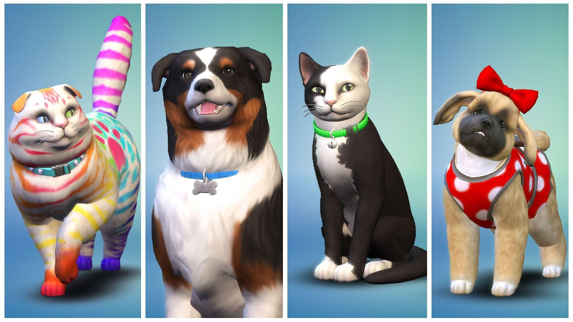 les sims 4 chiens et chats trailer de gameplay sur pc. Black Bedroom Furniture Sets. Home Design Ideas