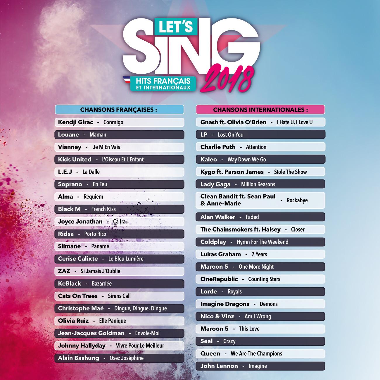 """Résultat de recherche d'images pour """"lets sing 2018"""""""