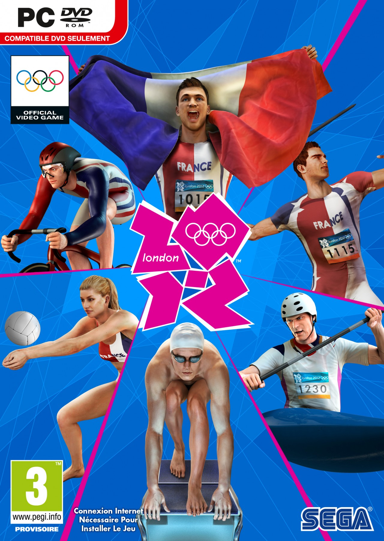 londres 2012 le jeu vid o officiel des jeux olympiques. Black Bedroom Furniture Sets. Home Design Ideas