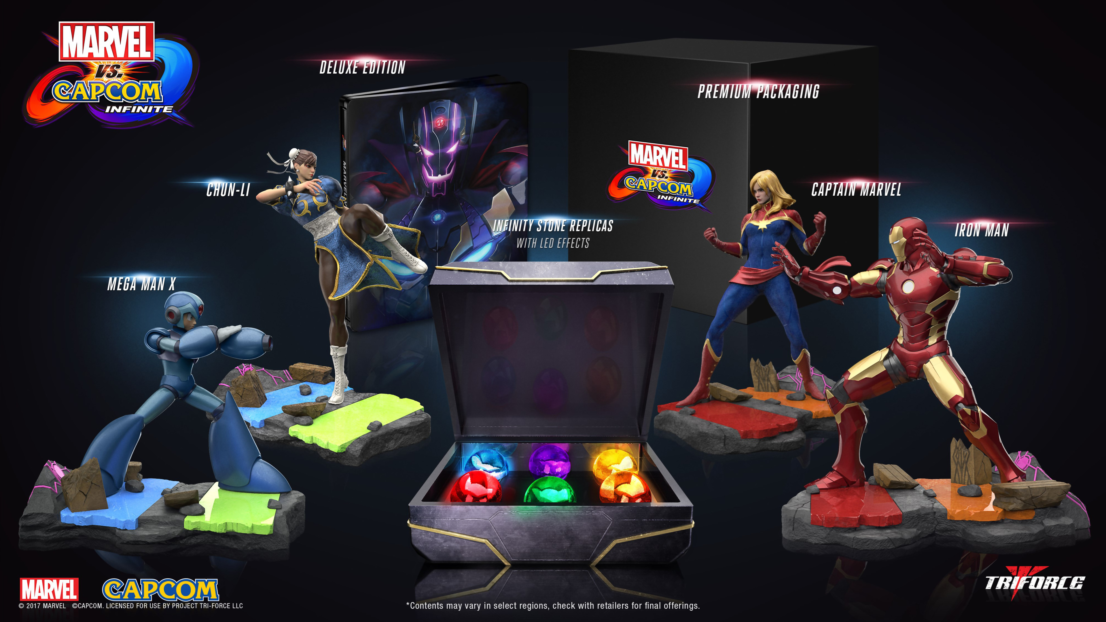 marvel vs capcom infinite un collector 200 avec 4 figurines. Black Bedroom Furniture Sets. Home Design Ideas