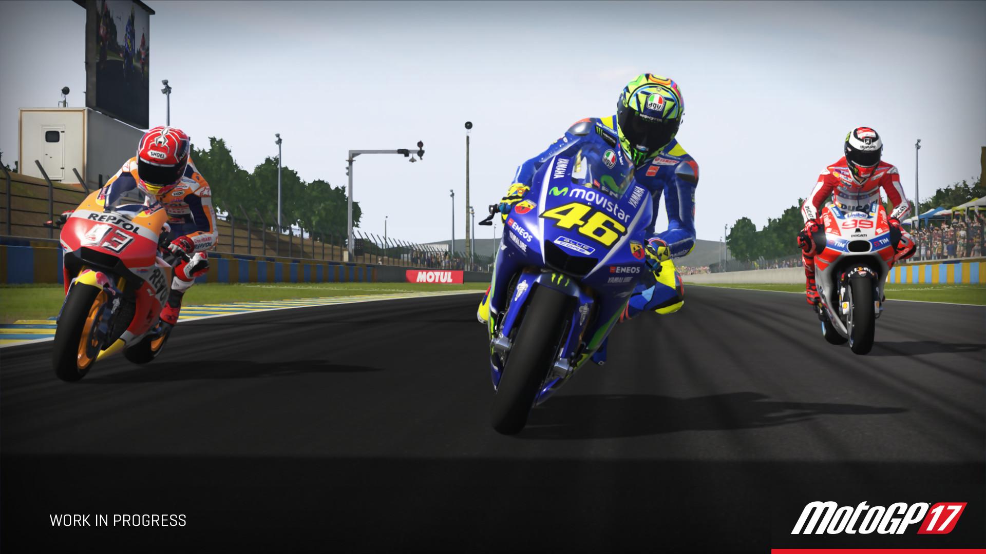 MotoGP 17 : trailer de gameplay de Rossi, Lorenzo et Marquez
