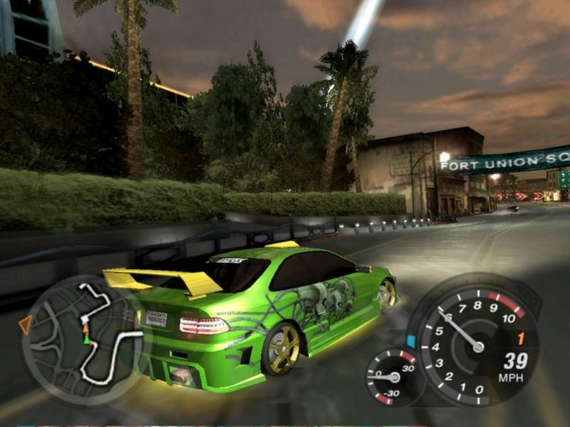 test nfs underground 2 sur playstation 2. Black Bedroom Furniture Sets. Home Design Ideas