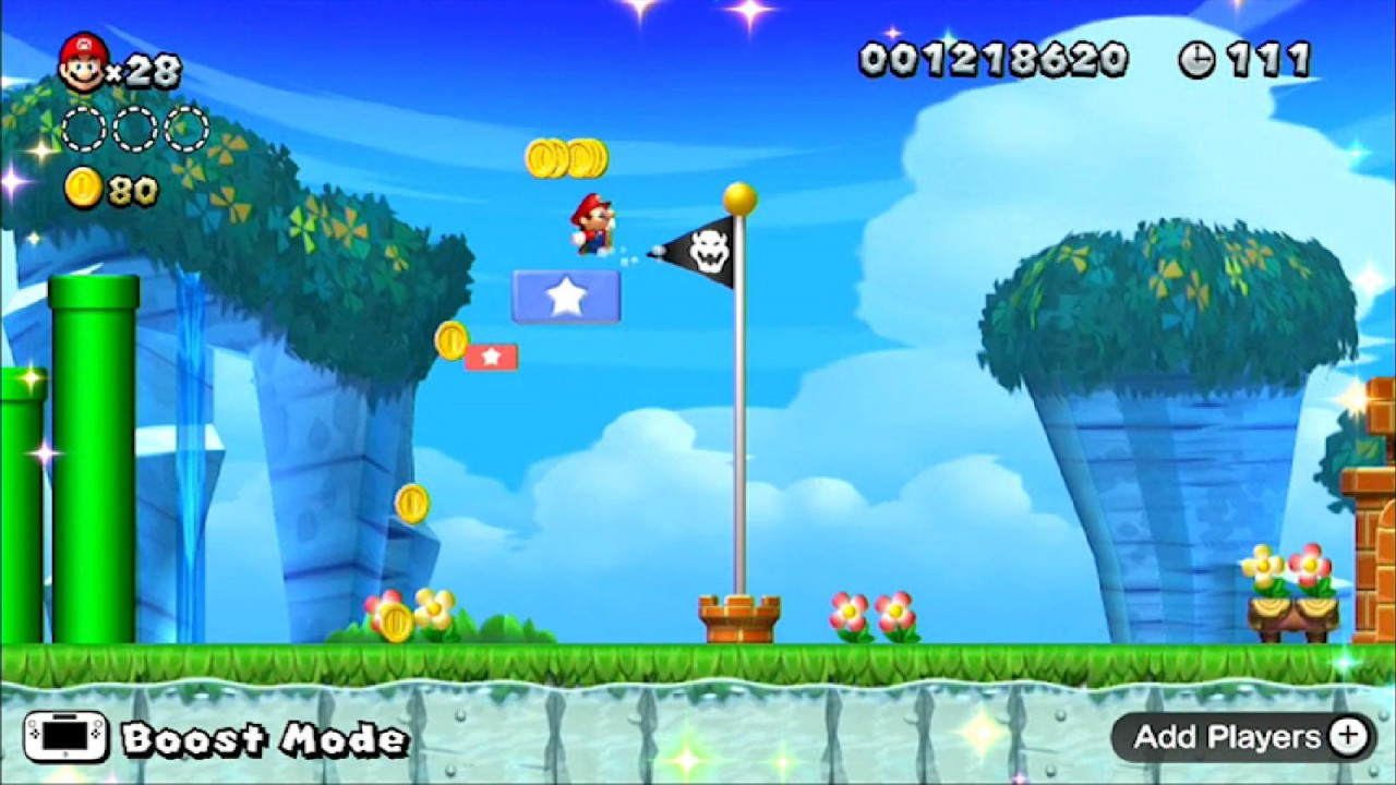 à cet épisode wii u old super mario bros u