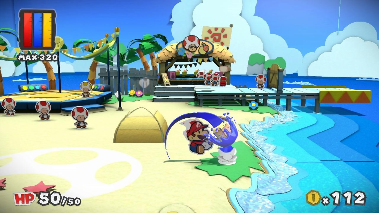 Images paper mario color splash for What color is mario
