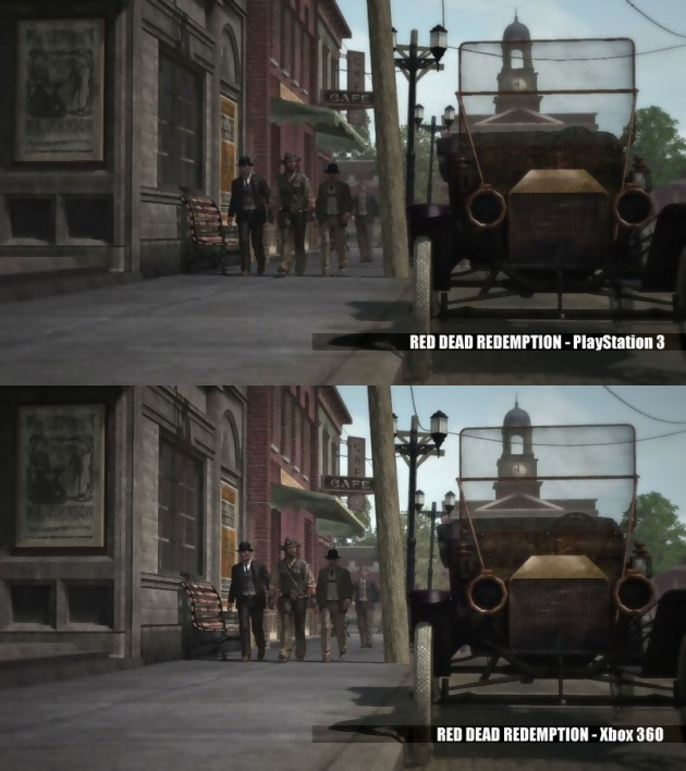Red Dead Redemption : Comparaison Xbox 360 VS. PlayStation 3