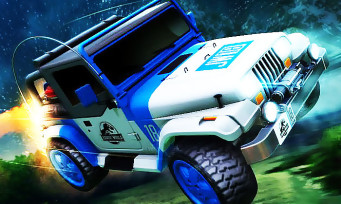 Rocket League : un DLC Jurassic World disponible, des images qui sortent les griffes